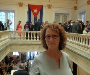 Valerie Landau at the re-opening of the Cuban Embassy in Washington DC, July 20, 2015